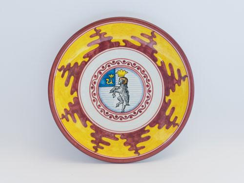 maiolica contrade siena piatto