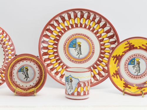maioliche e ceramiche contrade siena