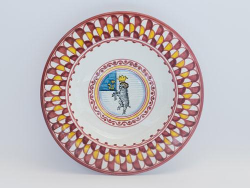 ceramiche contrade siena piatto montone