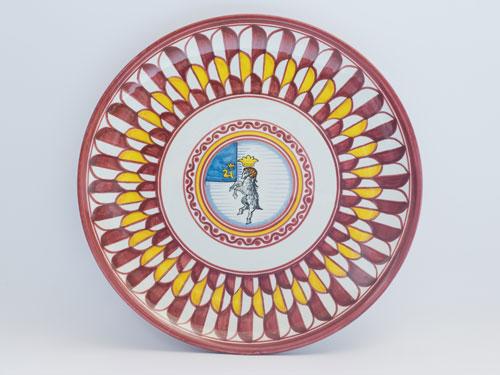 piatto ceramiche contrade siena