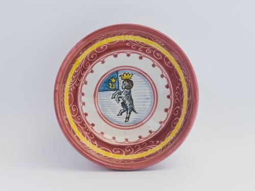maioliche contrade siena piatto