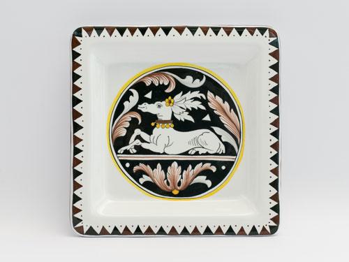 piatto fregio bianco nero senese