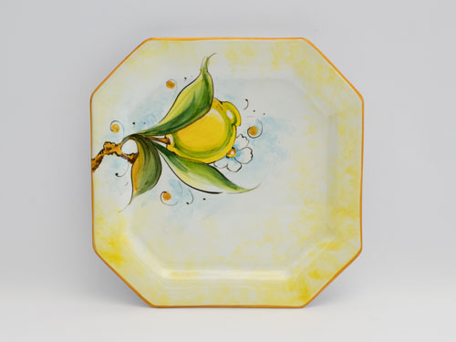 lemon pattern large dish