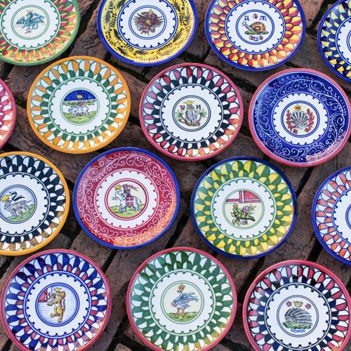 ceramiche e maioliche contrade siena
