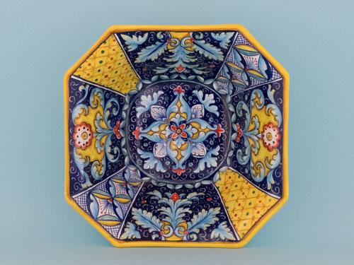 ceramiche deruta blu piatto