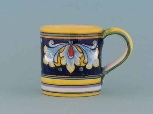 ceramiche deruta blu tazza