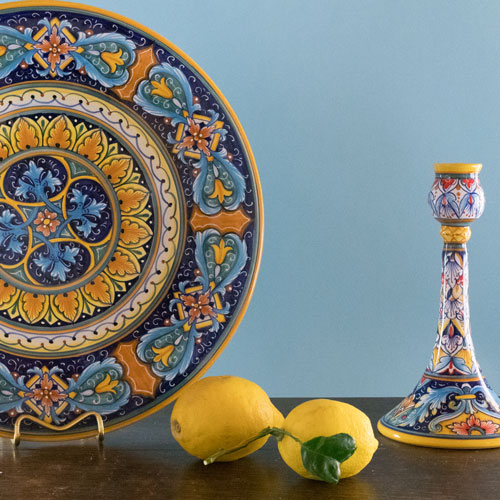 blue deruta ceramics