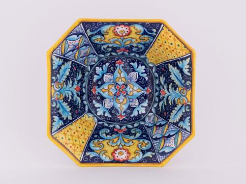 maioliche deruta blu piatto