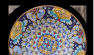 piatto maiolica deruta